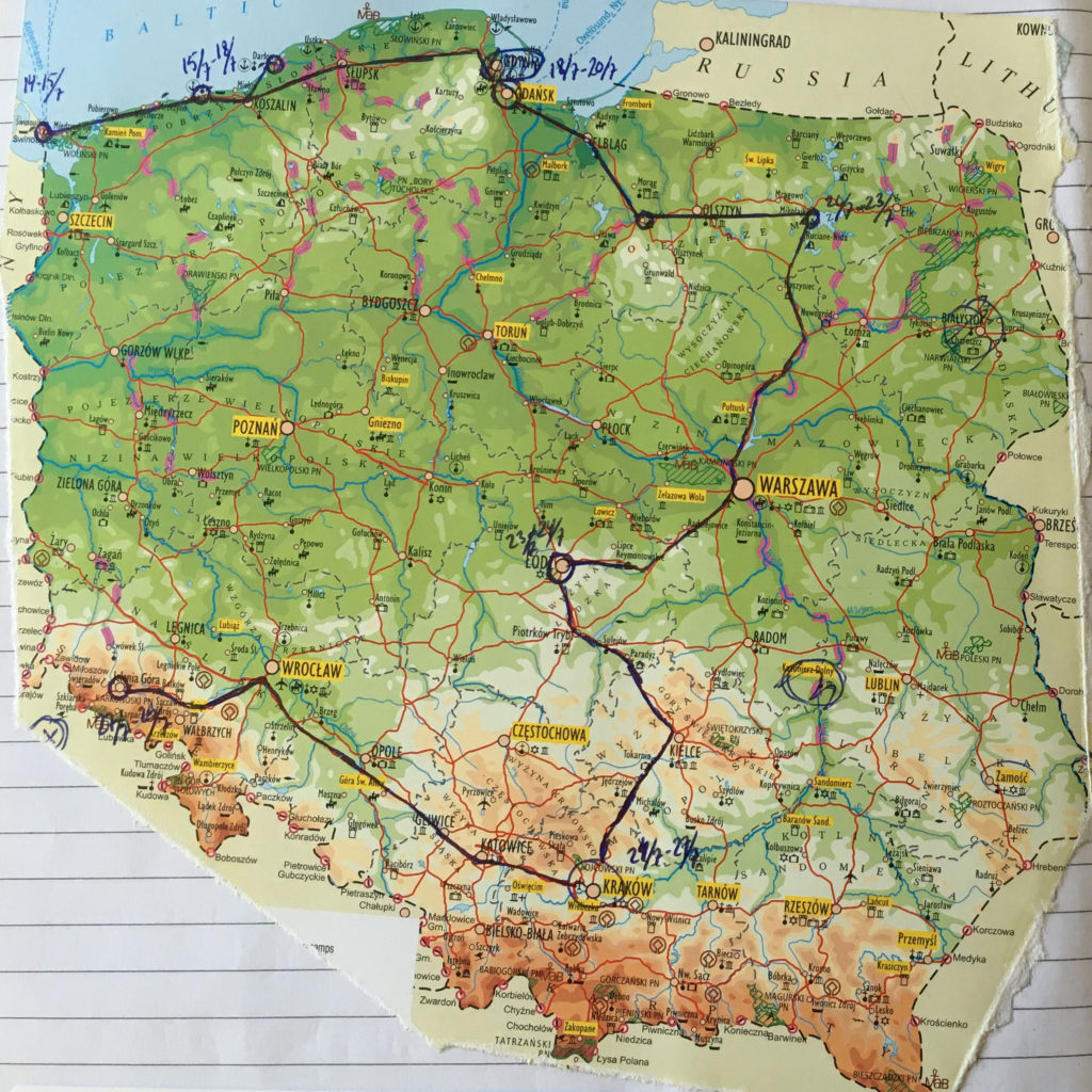 Oplev Polen - vores rute